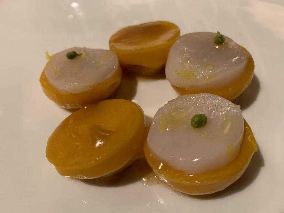 Pipero, ravioli di caovolfiore e vaniglia