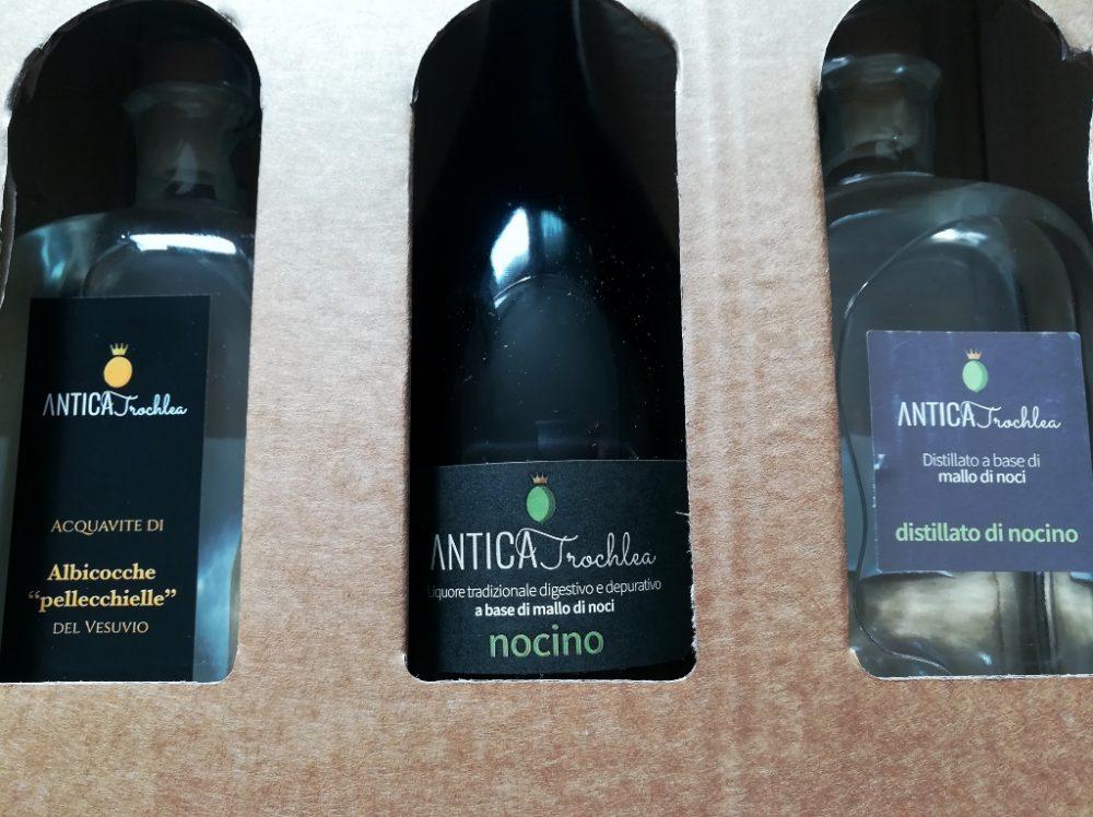 Azienda Agricola Antica Trochlea - Il distillato di Pellecchiella, il Nocillo e il distillato di Mallo di Noci