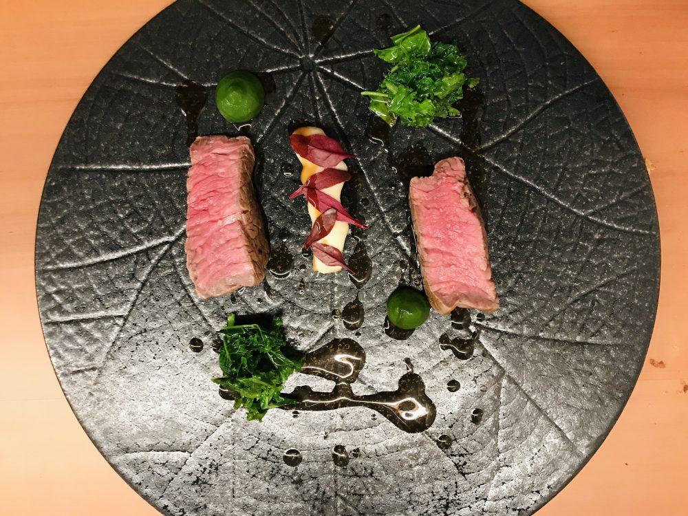 Contaminazioni Restaurant - Filetto di manzo con sedano rapa e torzelle