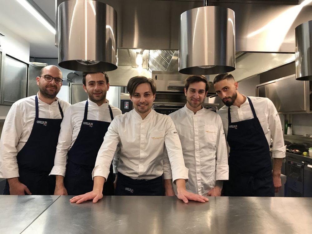 Contaminazioni Restaurant - Giuseppe Molaro e la brigata di cucina