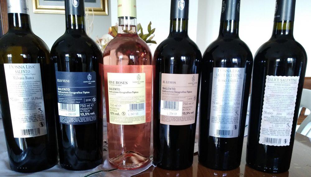 Controetichette Vini Leone De Castris Nuove Annate