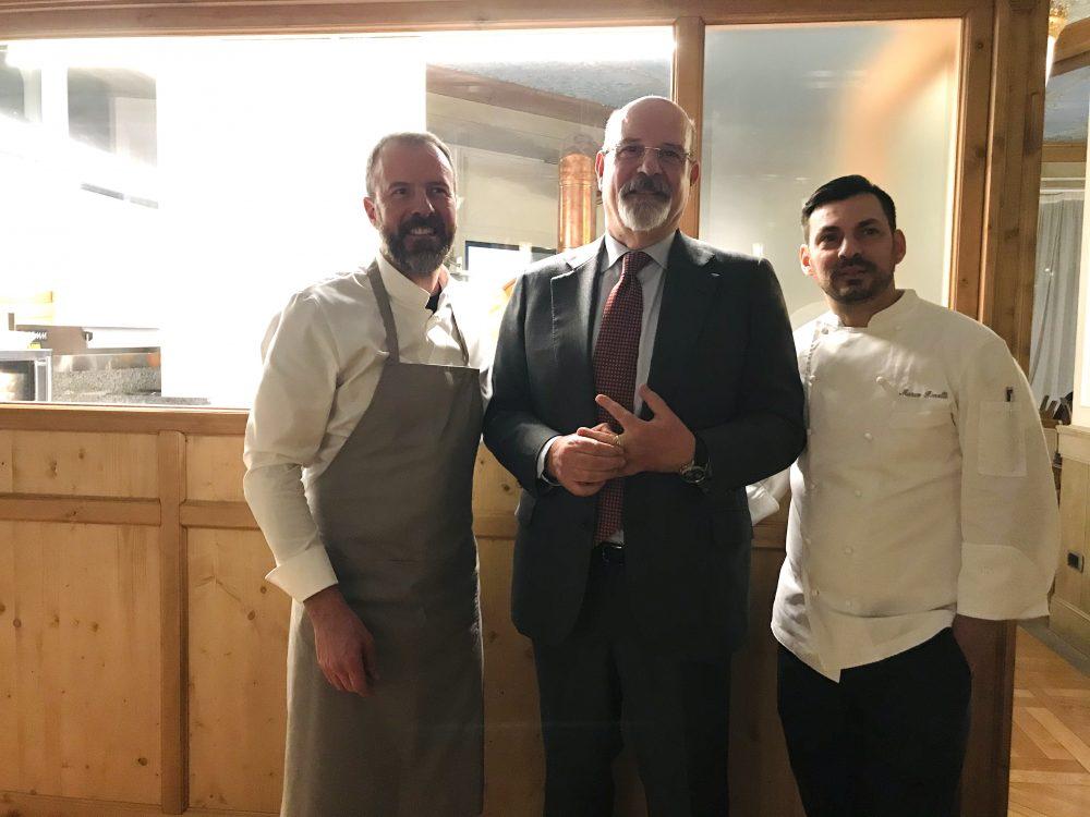 Cristallo Hotel - Simone Padoan - Franco Lentini, direttore dell'Hotel Cristallo e Marco Pinelli Exsecutive Chef