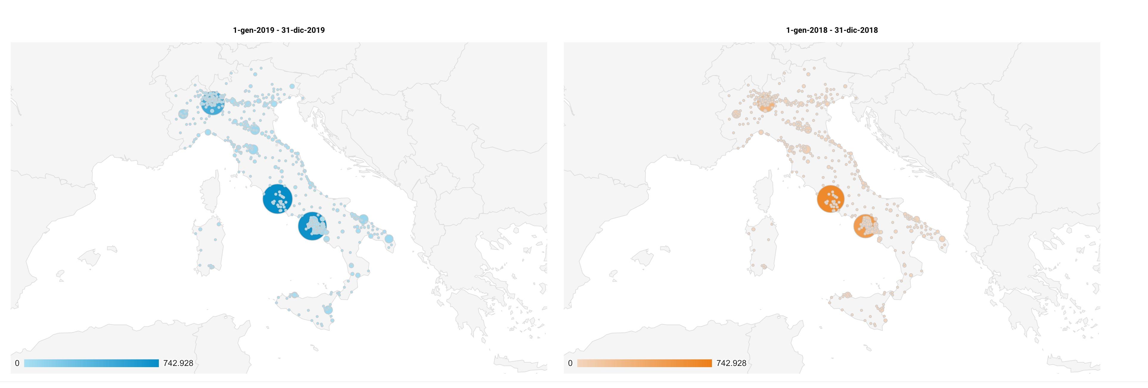 Dati viste Italia 2020