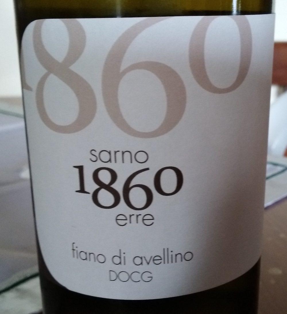 Fiano di Avellino Docg 2017 Tenuta Sarno 1860 erre