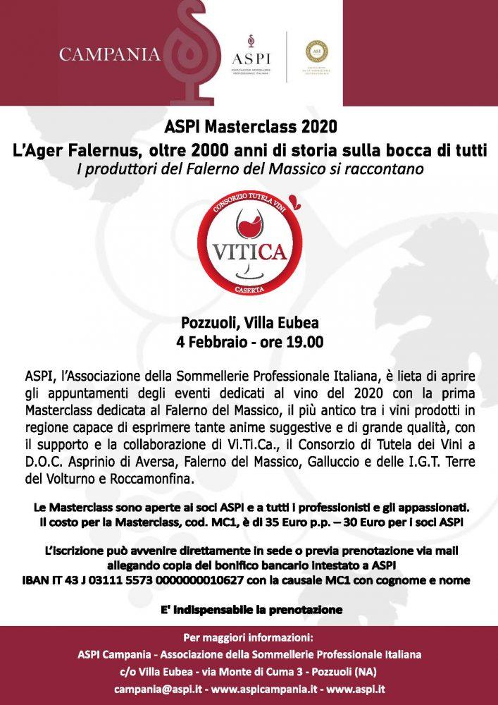 Locandina Masterclass ViTiCa Falerno del Massico