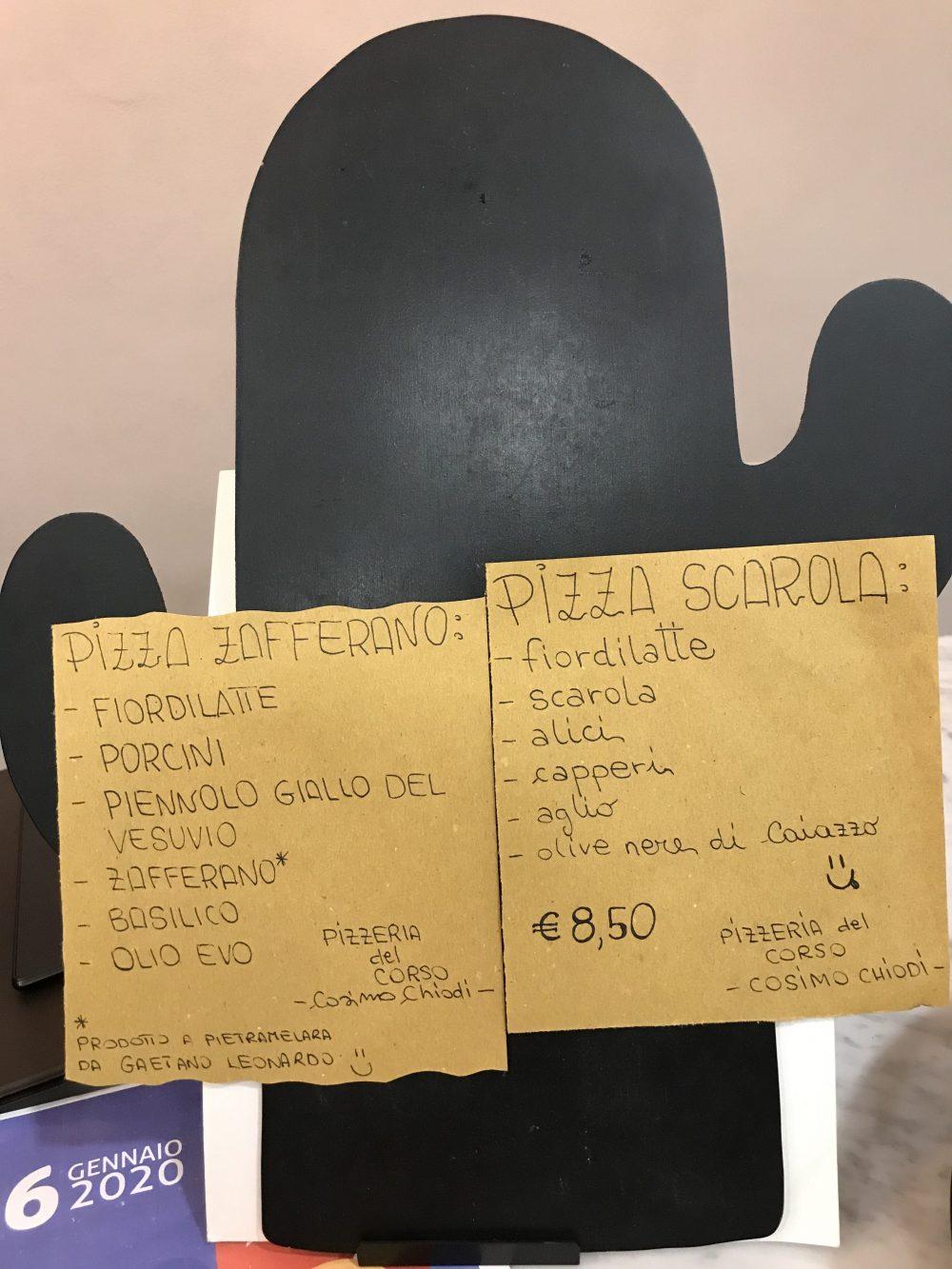 Pizzeria Del Corso - pizze del mese