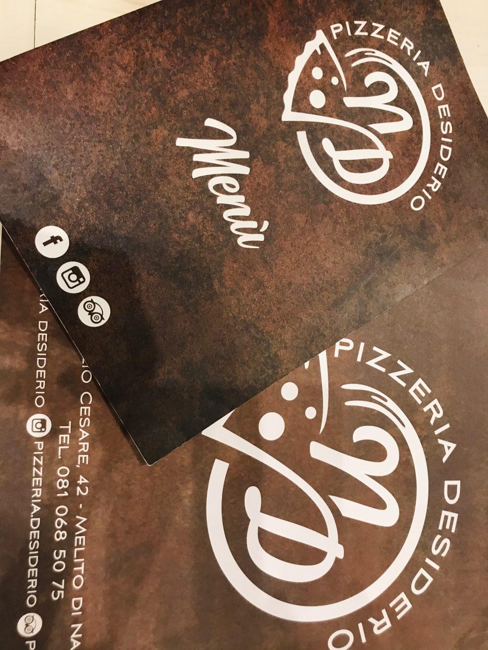Pizzeria Desiderio - menu'