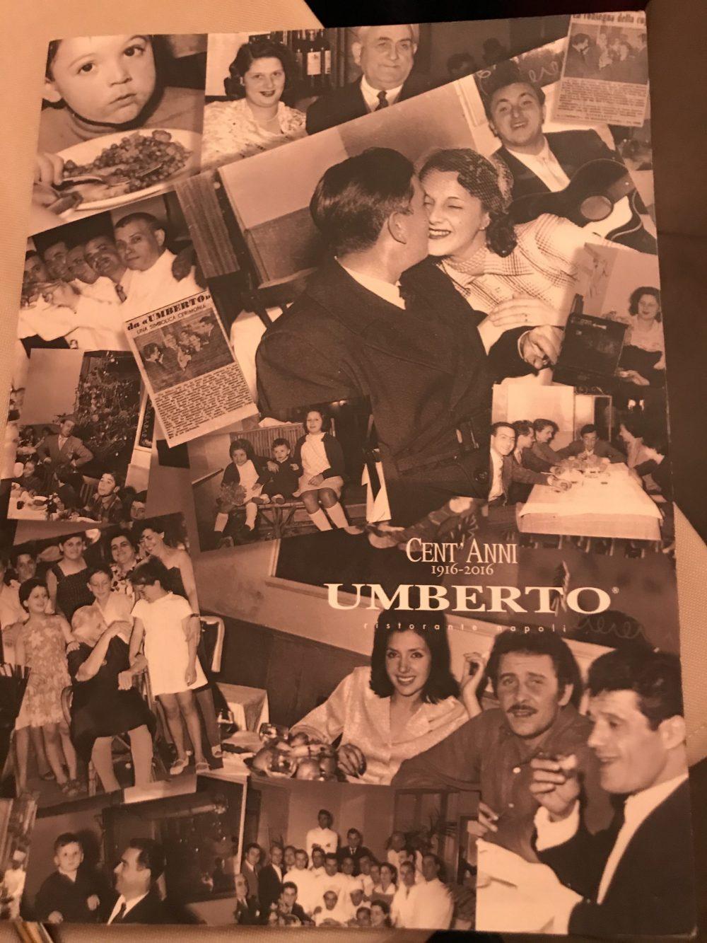 Ristorante Pizzeria Umberto - menu'