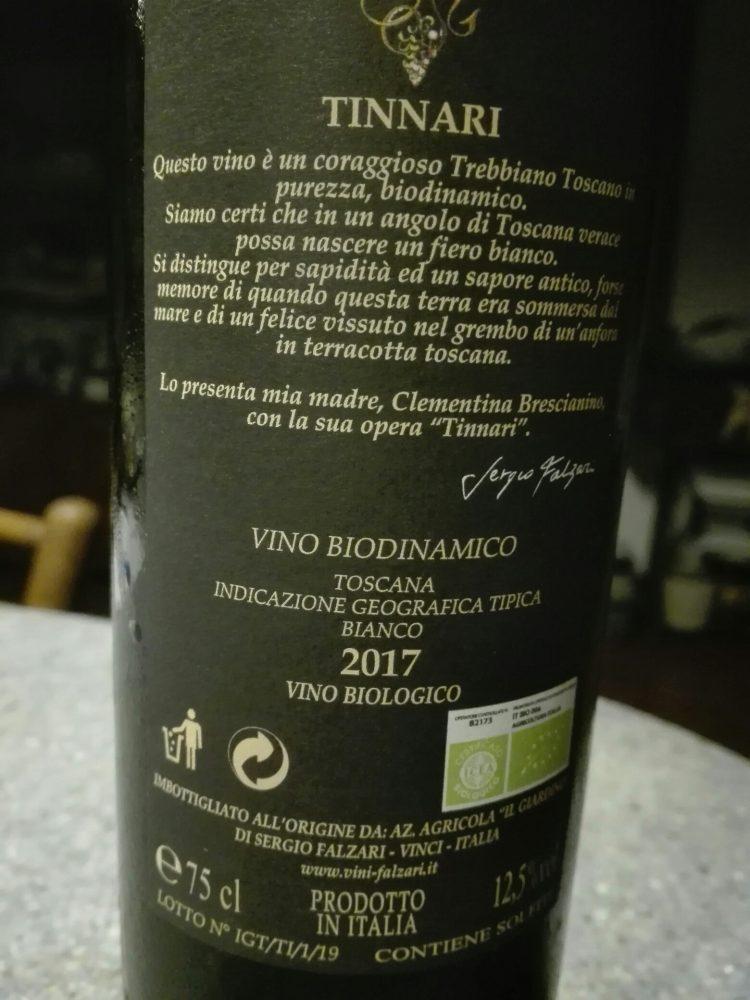 Sergio Falzari Tinnari Igt Toscana Bianco 2017
