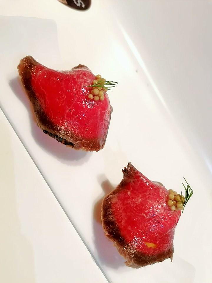 TICKETS - Airbag di patata con carne marinata e senape