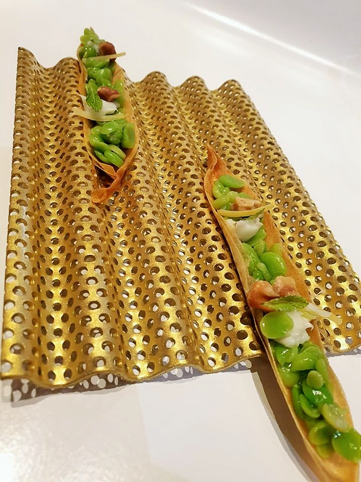 TICKETS - Pane turco con piselli, gorgonzola e noci