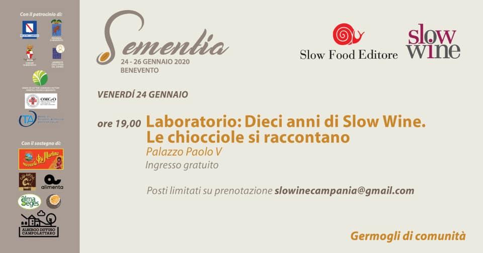 Presentazione regionale delle edizioni 2020 di Osterie d'Italia e Slow Wine