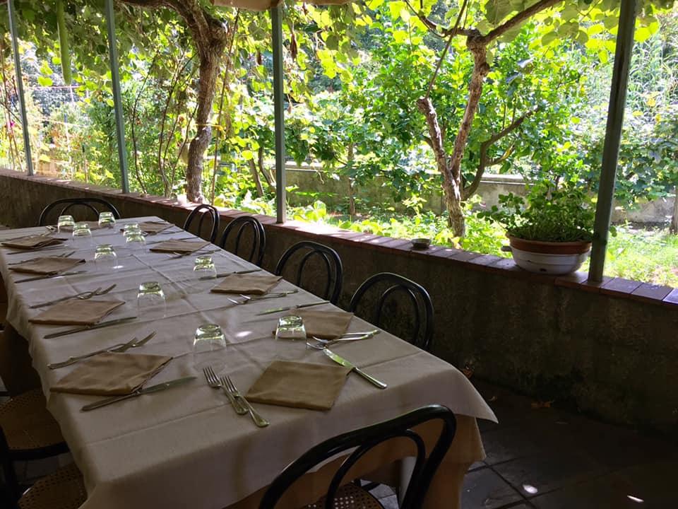 La Chioccia d'Oro, i tavoli in veranda