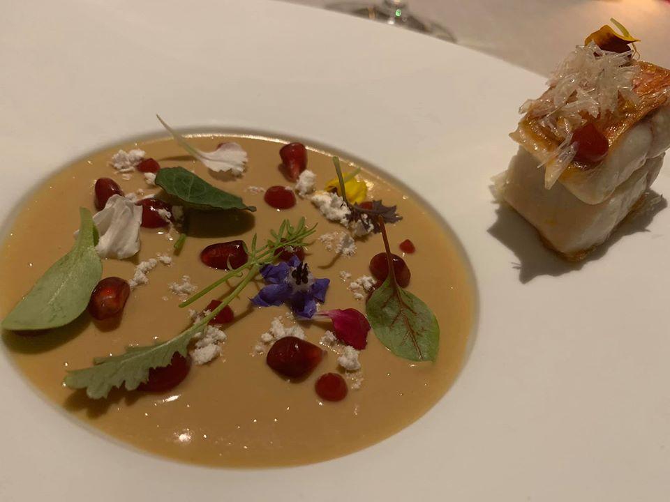 Imago. Triglia, foie gras e melograno