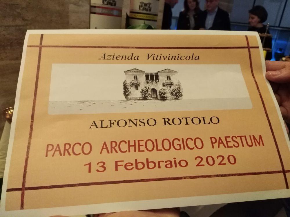 Aperitivi al Parco Archeologico di Paestum Presentazione azienda Rotolo