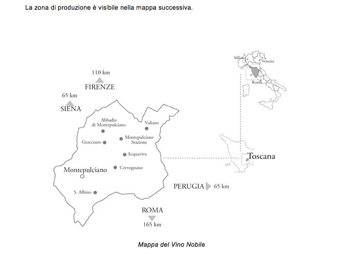 Mappa del Vino Nobile