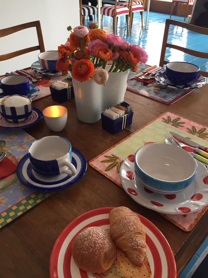 La Minervetta maison, il tavolo della colazione