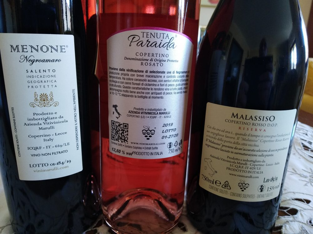 Controetichette Vini Marulli