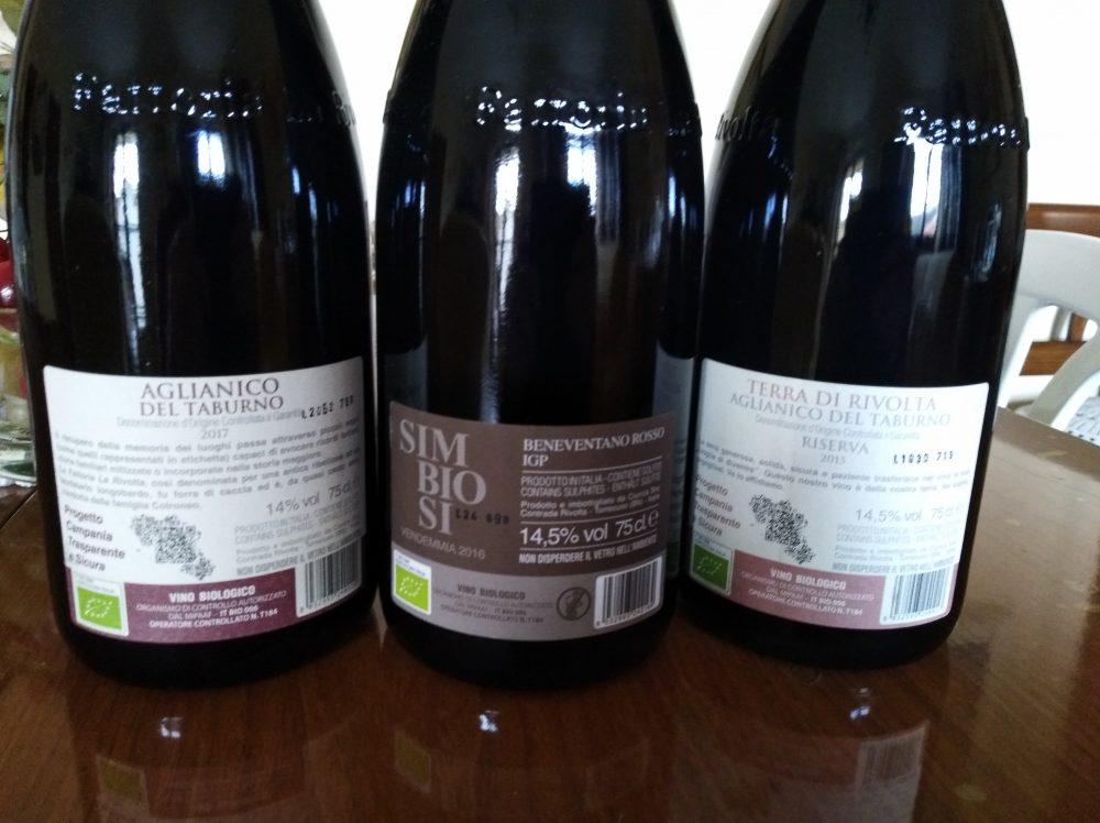 Controetichette vini rossi Fattoria La Rivolta