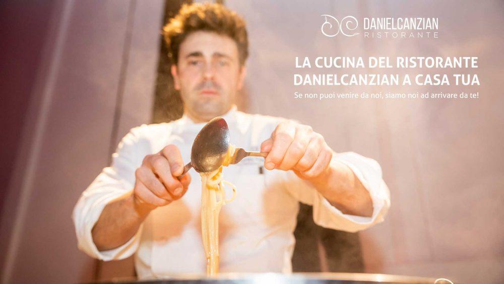 La cucina italiana del ristorante Daniel Canzian a Casa Tua