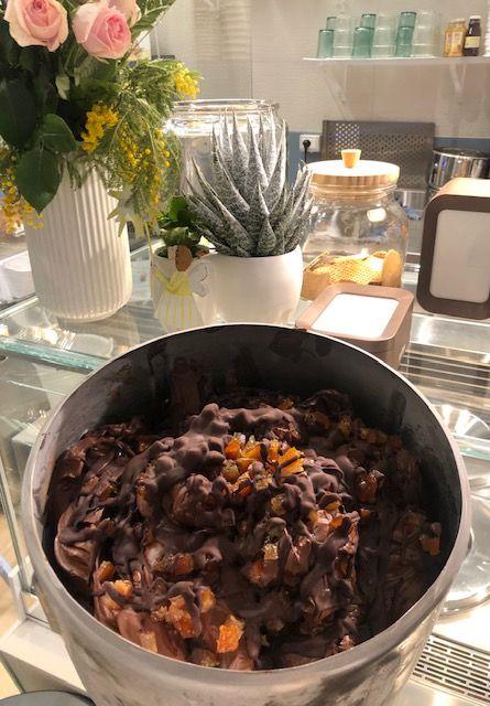 Gelateria Acquagelata - cioccoarancia con selezione monorigine Callebaut