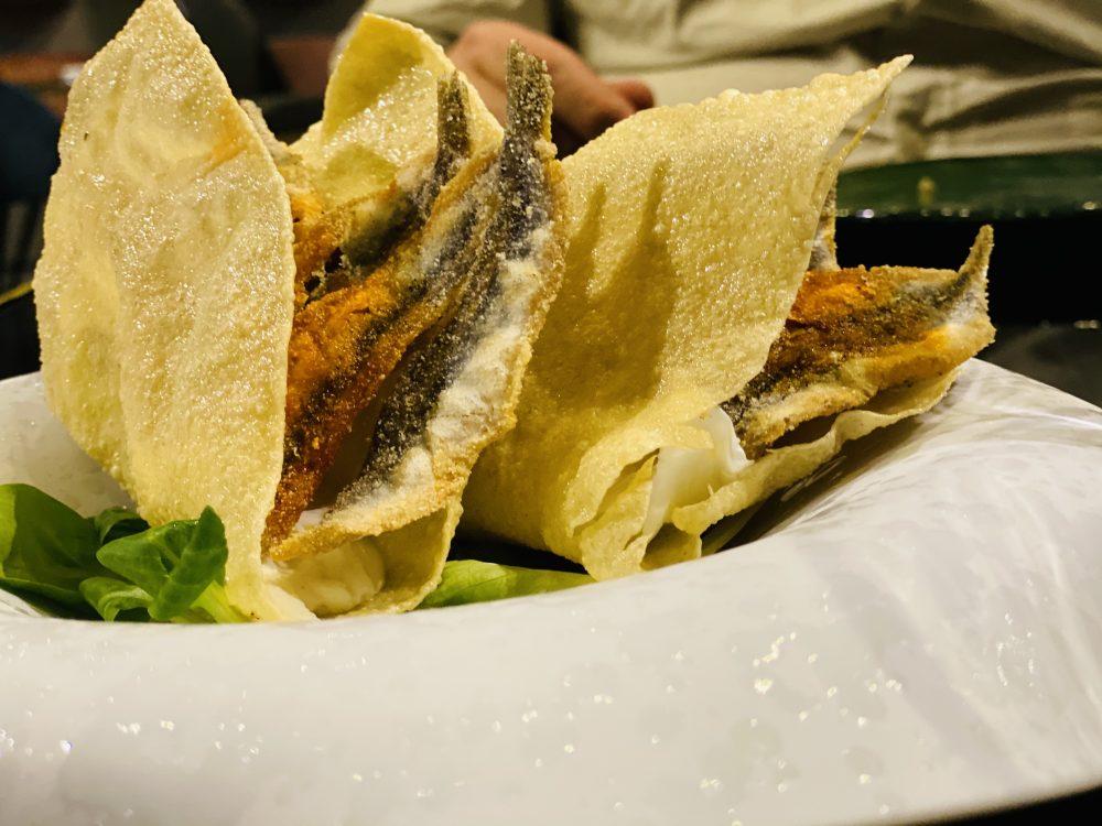 Krianza - Tacos, alici fritte, burrata e peperoncino