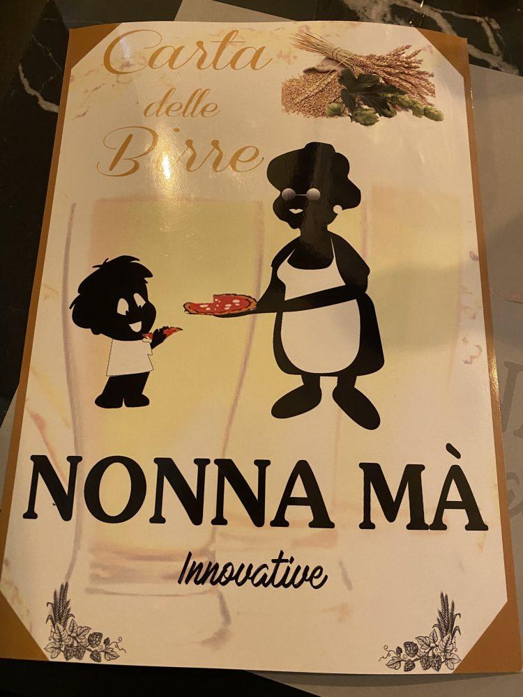 Nonna Ma' - carta delle birre