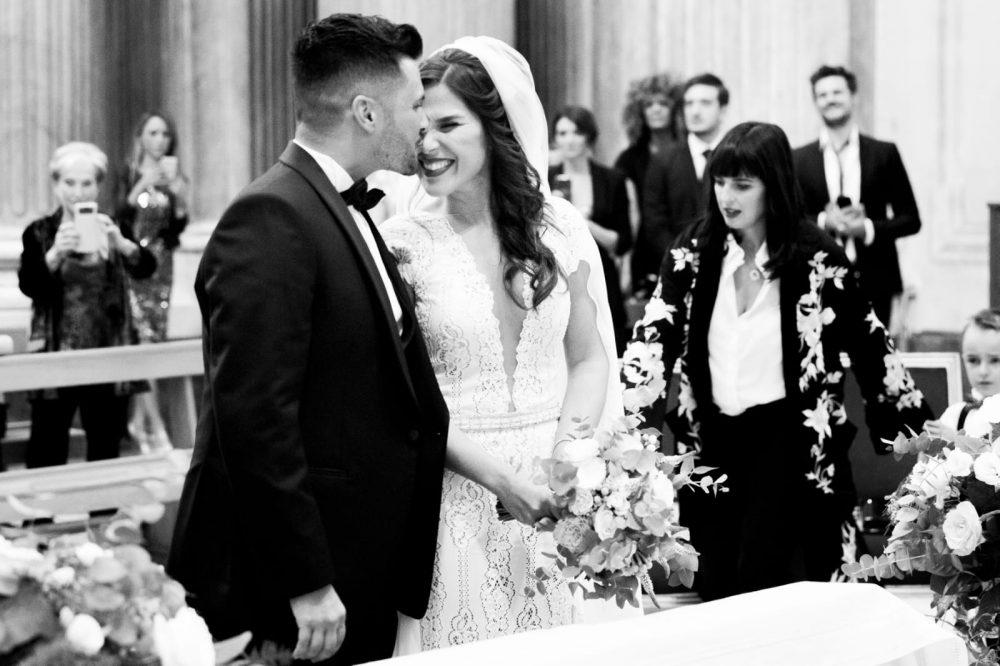 Pier Daniele e Valeria nel giorno del loro matrimonio