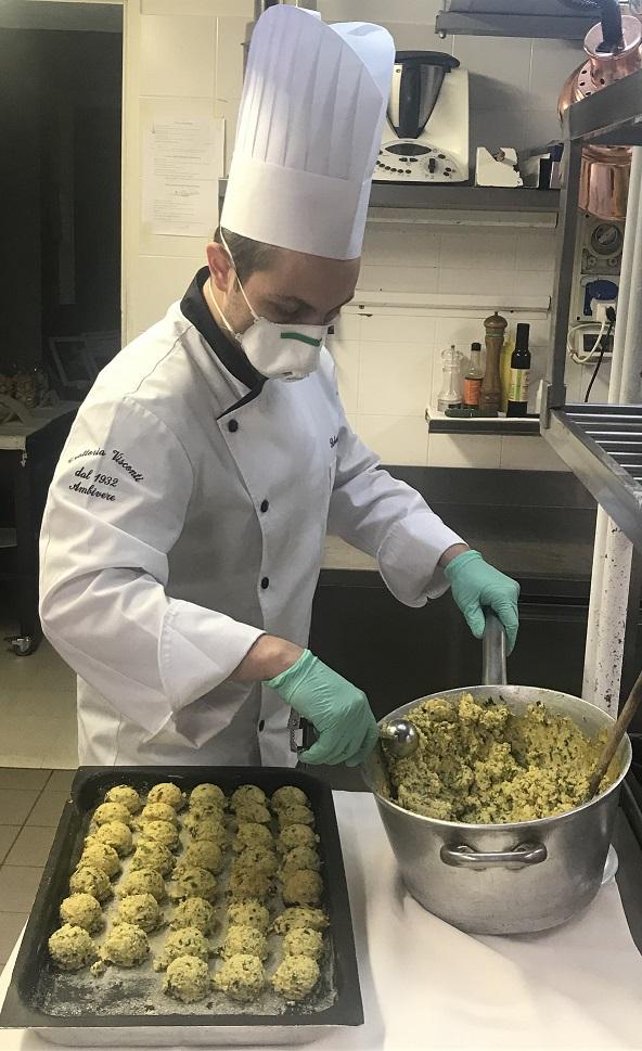 Roberto Caccia Trattoria Visconti Gnocchi di polenta