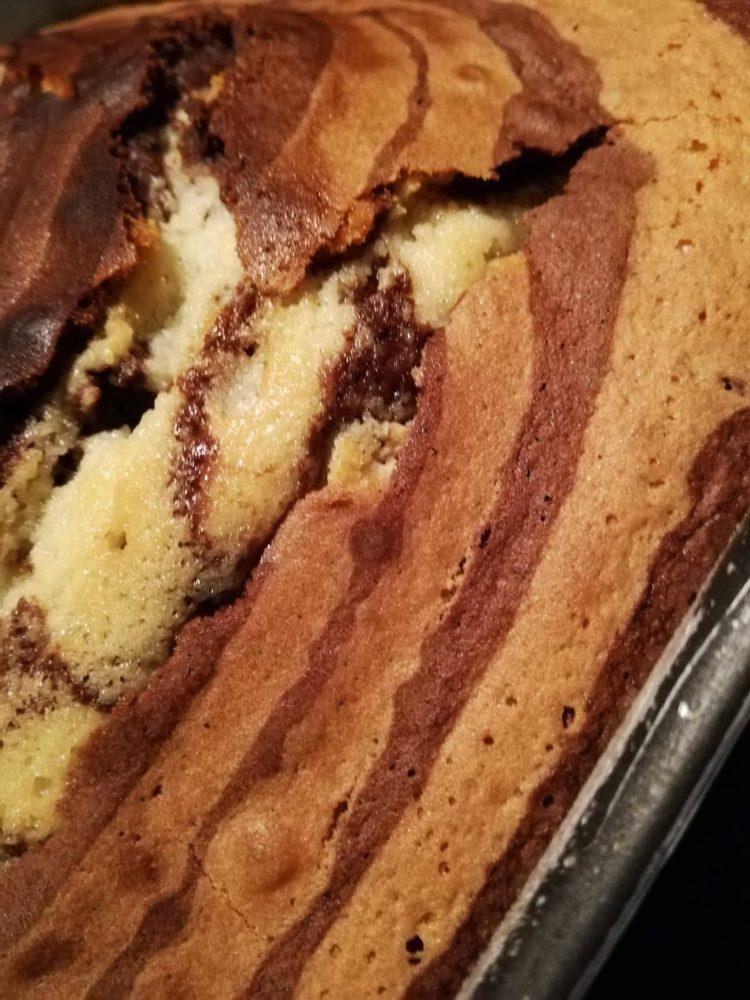 Torta zebrata - La torta zebrata cotta