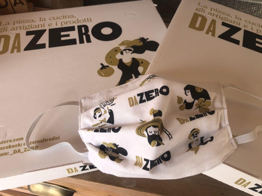 Mascherine e cartoni pizza DaZero