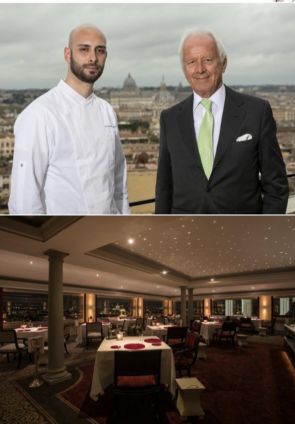 Lo chef Andrea Antonini e Roberto E. Wirth - Hotel Hassler a Roma