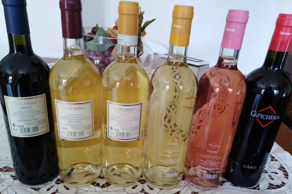 Controetichette vini Capichera