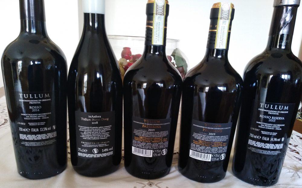 Controetichette vini Feudo Antico