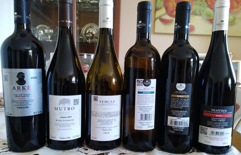 Controetichette vini Val di Neto