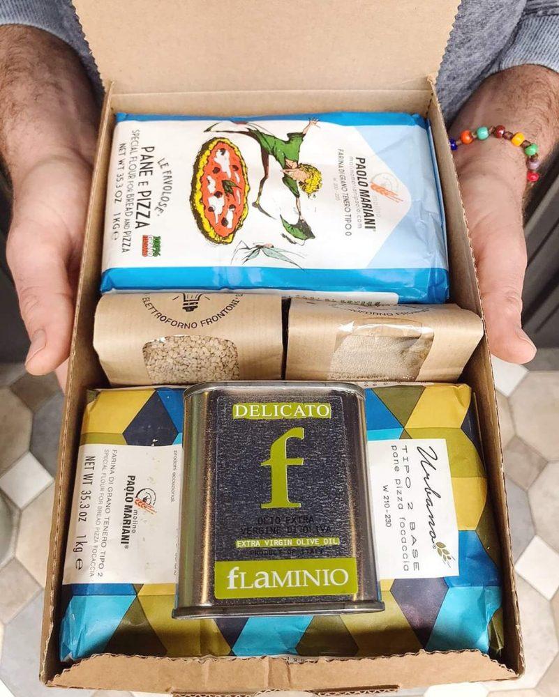 Home box con farina olio e lievito