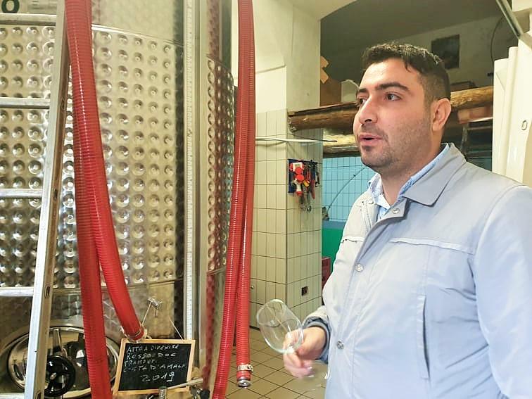 L'enologo Sabino Colucci
