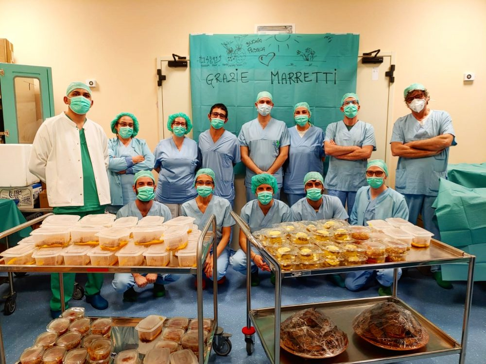 Medici e infermieri ringraziano Marretti