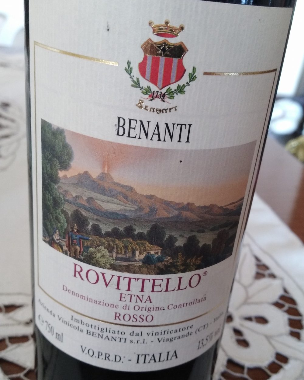 Rovittello Etna Rosso Doc 2004 Benanti