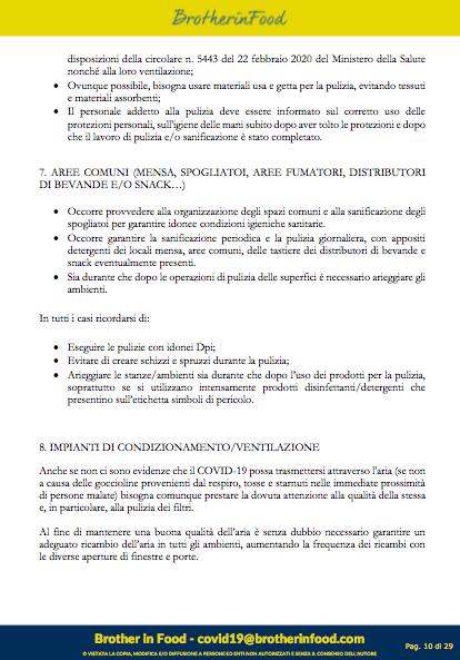 10 Protocollo Ristorazione Covid