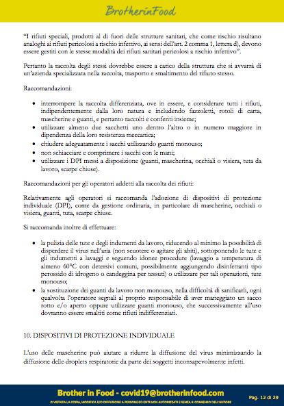 12 Protocollo Ristorazione Covid
