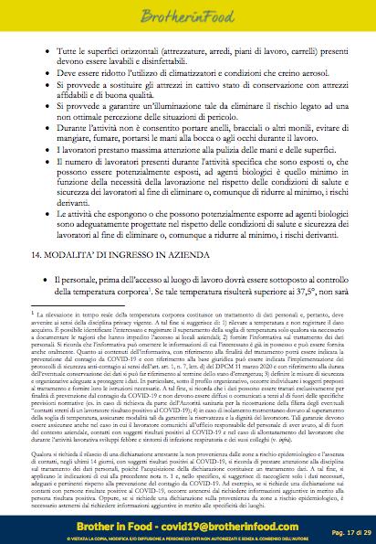 17 Protocollo Ristorazione Covid
