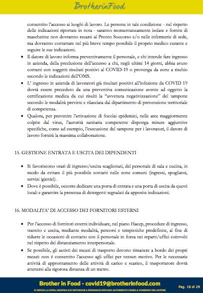 18 Protocollo Ristorazione Covid