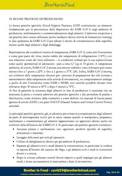 20 Protocollo Ristorazione Covid