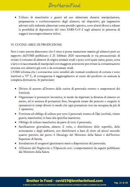 21 Protocollo Ristorazione Covid