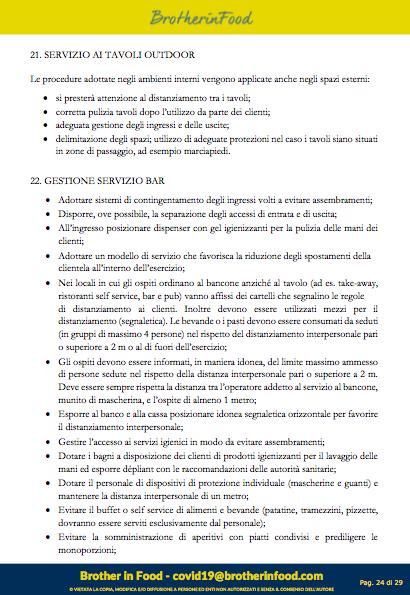 24 Protocollo Ristorazione Covid