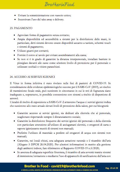 25 Protocollo Ristorazione Covid
