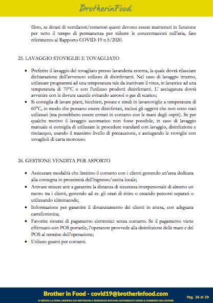 26 Protocollo Ristorazione Covid