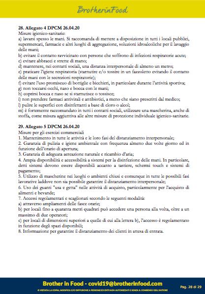 28 Protocollo Ristorazione Covid