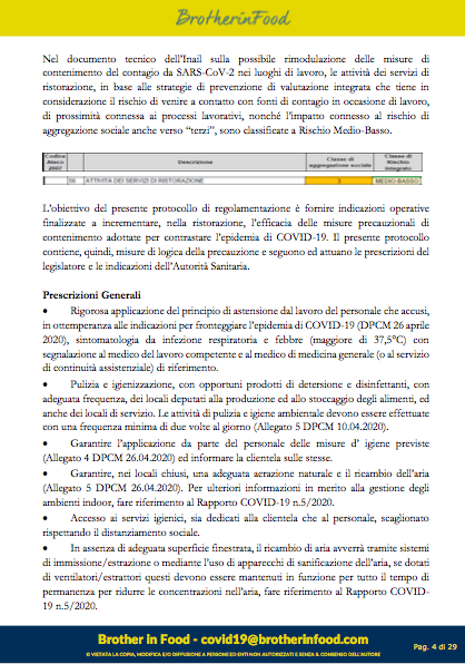 4 Protocollo Ristorazione Covid